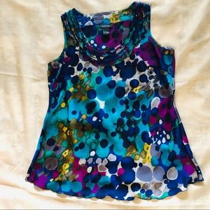 "Women's ""Spense"" Watercolor Tank Blouse"